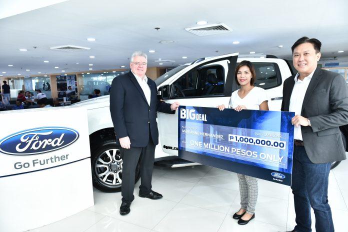 Entrepreneur bags P1M cash prize from FordPh Big Deal raffle